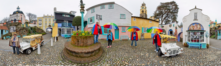 Prisoner fans at Portmeirion