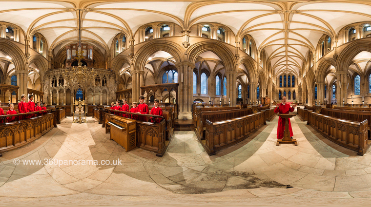 The choir in Southwell Minster